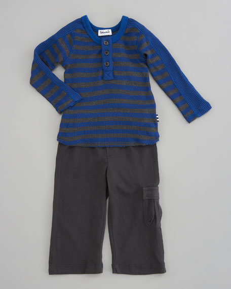 Thermal Henley & Cargo Pants Set
