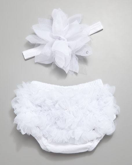 Ruffled Diaper Cover & Headband Set