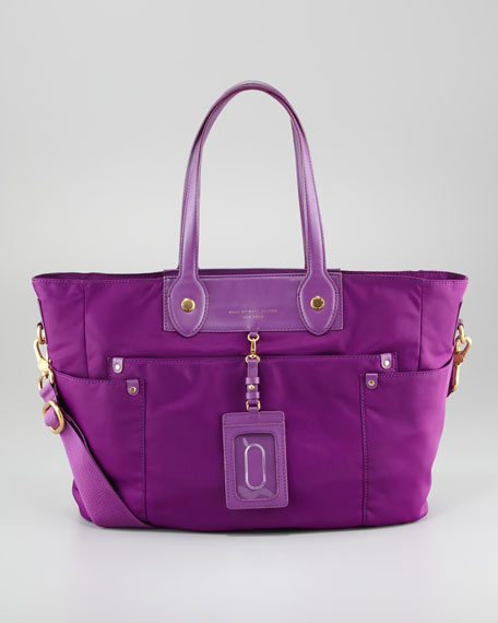 Preppy Nylon New Eliz-A-Baby Diaper Bag, Violet