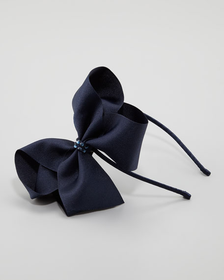 Grosgrain Headband, Navy