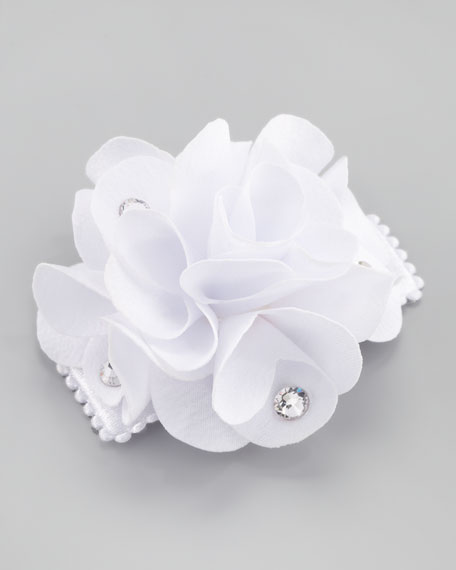 Feel Good Small Flower Clip, White