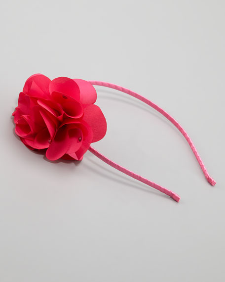 Feel Good Floral Headband, Hot Pink