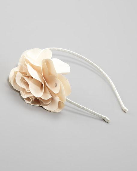 Feel Good Floral Headband, Ivory
