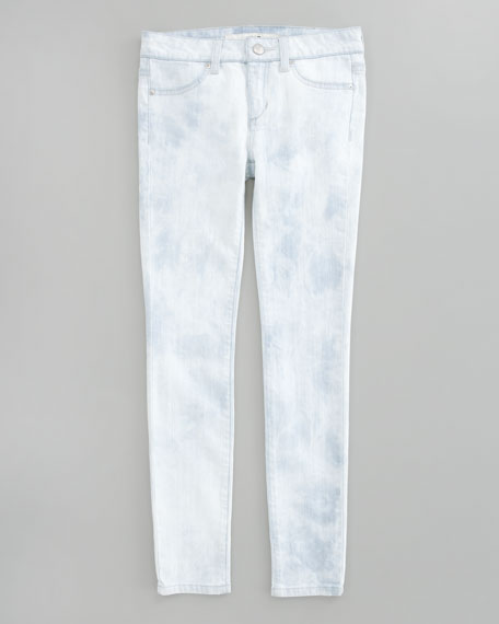 Bleach Out Denim Leggings, Sizes 8-10
