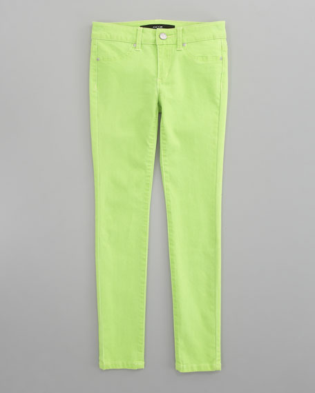 Neon Denim Leggings, Sizes 8-10