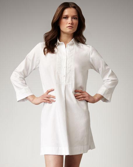 Tailored Lace-Trim Sleepshirt