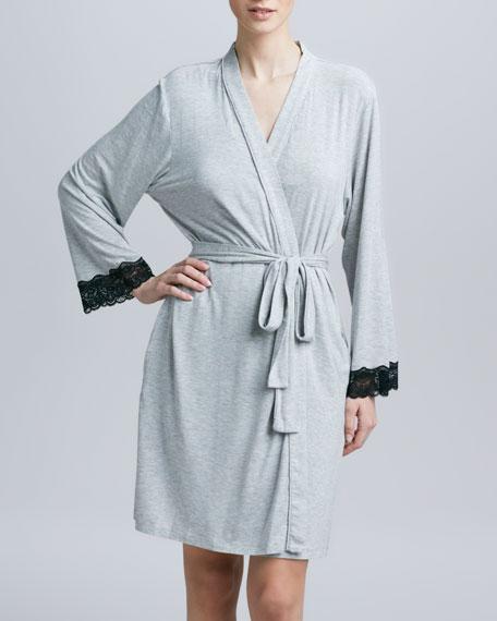 Twilight Lace-Trim Wrap Robe