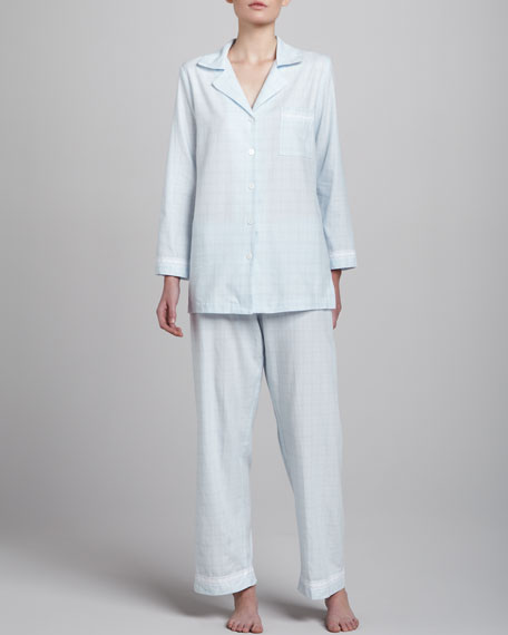 Refined Comfort Flannel Pajamas, Blue