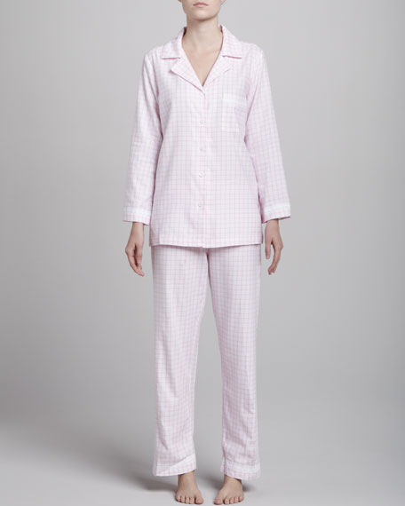 Refined Comfort Flannel Pajamas, Pink