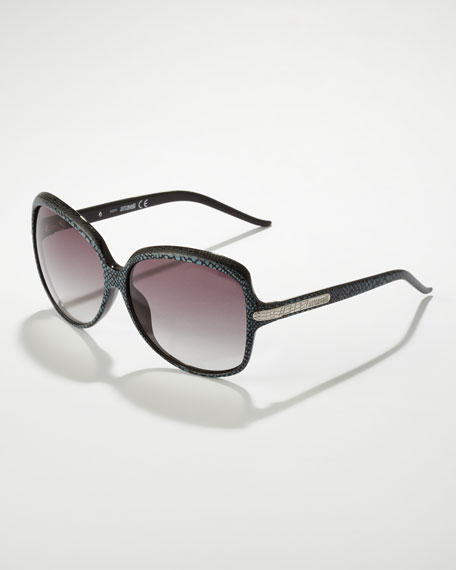 Python-Print Sunglasses, Black/Gray