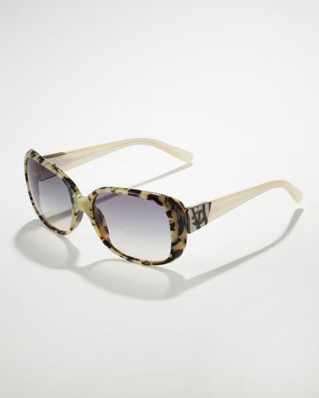 Havana Sunglasses, Ivory