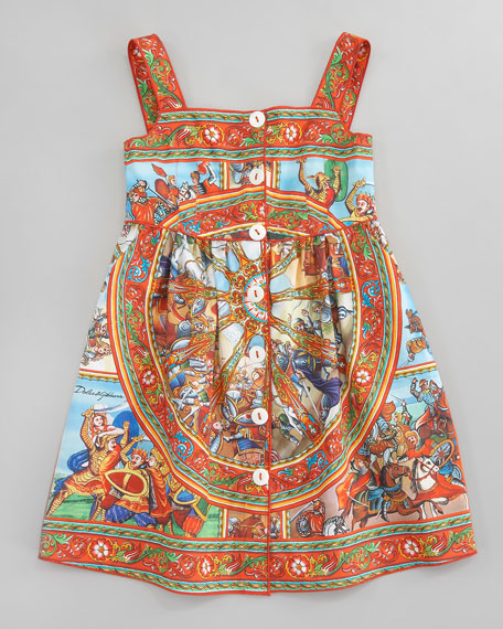 St. Carretto Poplin Sun Dress, Sizes 8-10