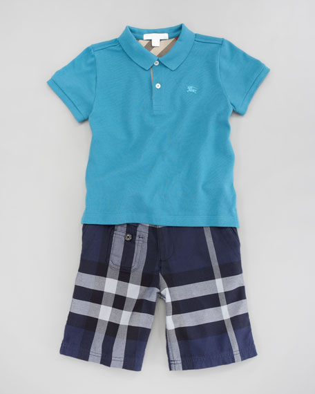 Mini Short Sleeve Polo Shirt, Sizes 4-10