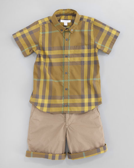 Short-Sleeve Check Shirt