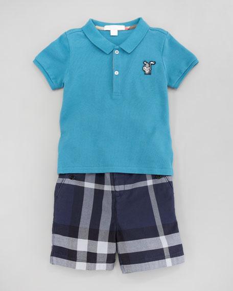 Mini Check Shorts, 18m-3T