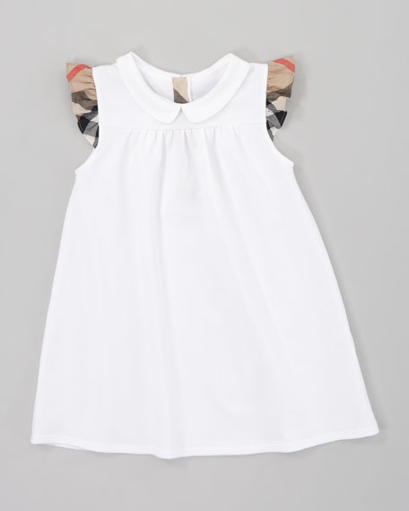 Pique Knit Dress, White