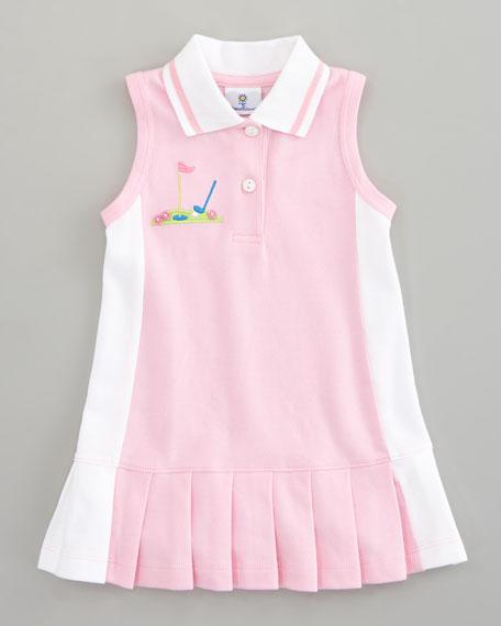 Miniature Golf Knit Pique Dress, Sizes 4-6X