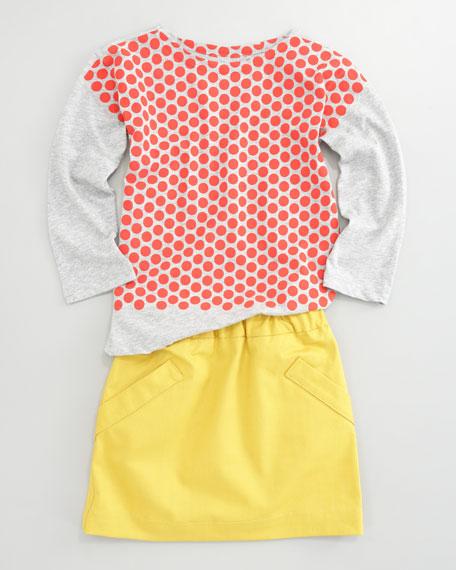 Gabardine A-Line Skirt, Sizes 2-6