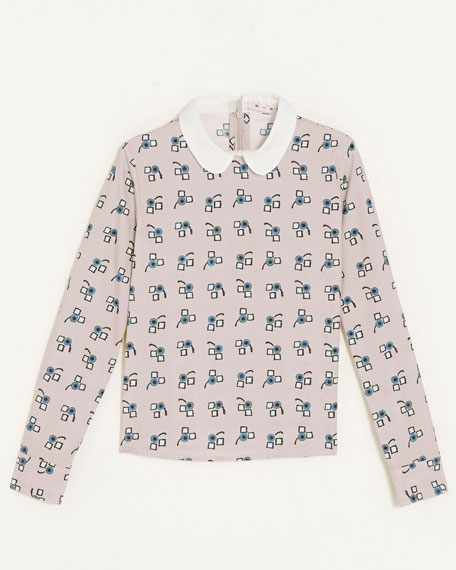 Collared Print Shirt, Sizes 2-6