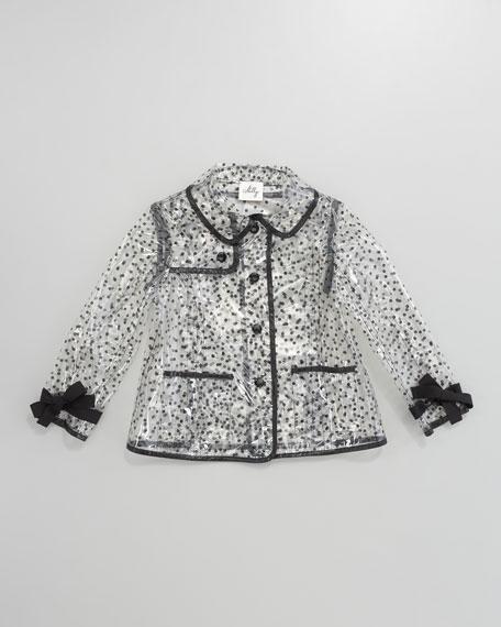 Polka Dot Clear Raincoat, Sizes 8-10
