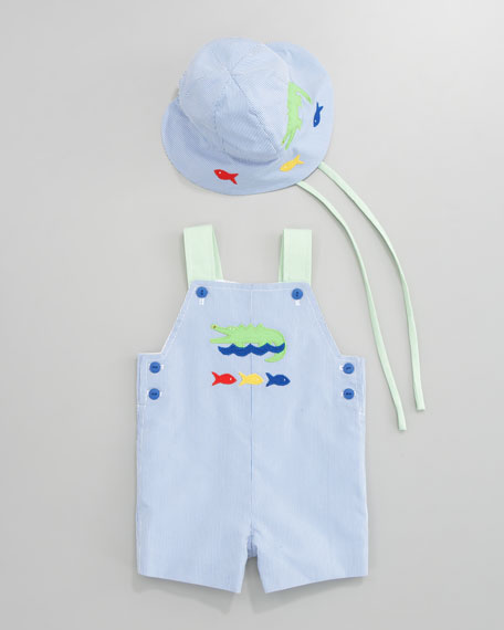Spring Mix Gator Overalls & Tee Set, Sizes 3-9 Months