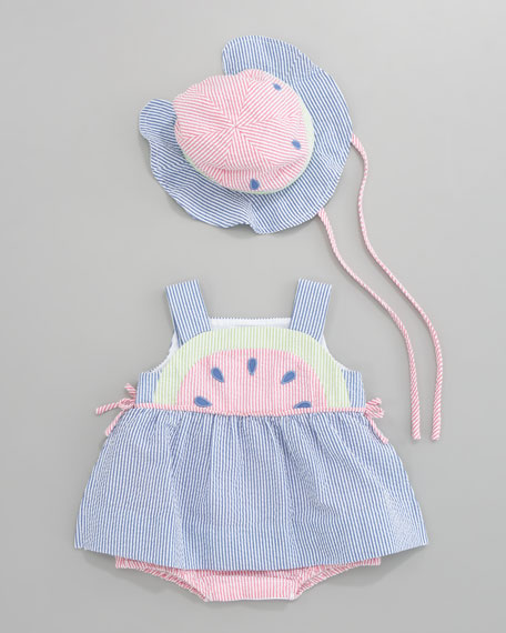 Summertime Treat Watermelon Dress, Sizes 3-9 Months