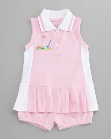 Miniature Golf Knit Pique Dress, 12-24 Months