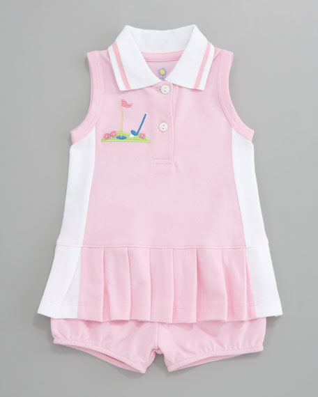Miniature Golf Knit Pique Dress, 3-9 Months