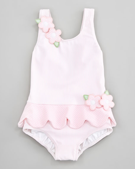 Tickled Pink Ruffled Swimsuit, Sizes 12-24 Months