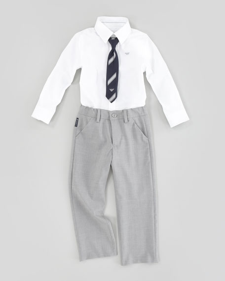 Button-Down Dress Shirt, White