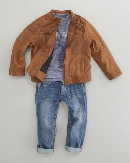 Leather Zip Jacket