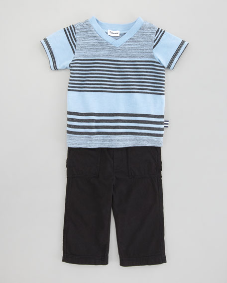 Vintage Striped Tee & Pants, Sizes 3-24 Months