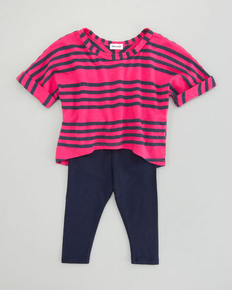 Capri Striped Tunic & Leggings Set, Sizes 3-24 Months