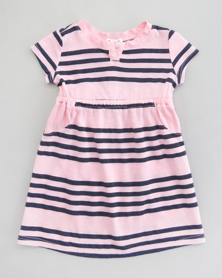 Capri Stripe Short-Sleeve Dress, 3-24 Months
