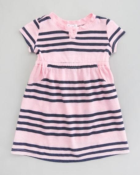 Capri Stripe Short-Sleeve Dress, 3-24 Months