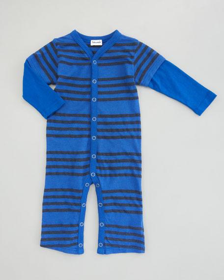 Capri Striped Playsuit, Pier/Blue