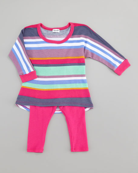Pensacola Stripe Tunic & Leggings Set, 3-24 Months
