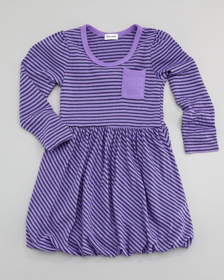 Naples Striped Bubble Dress, Sizes 4-6X