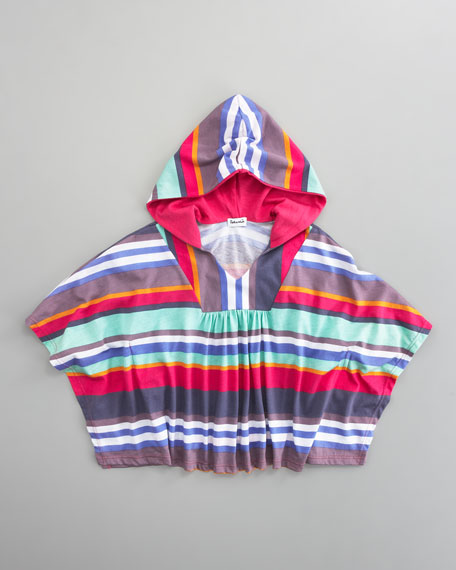 Pensacola Striped Poncho, Sizes 4-6X