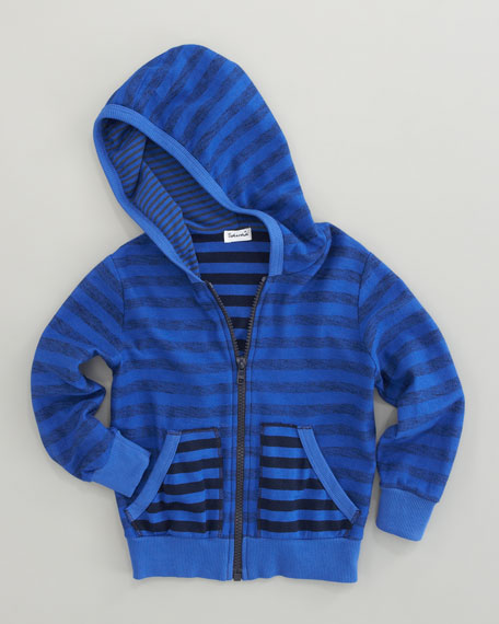 Mixed-Stripe Hoodie, Sizes 2T-3T