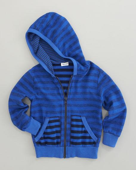 Mixed-Stripe Hoodie, Sizes 4-6x