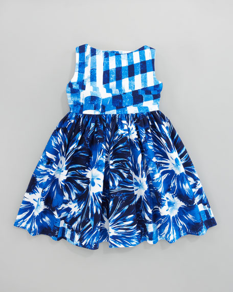 Gingham Floral Party Dress