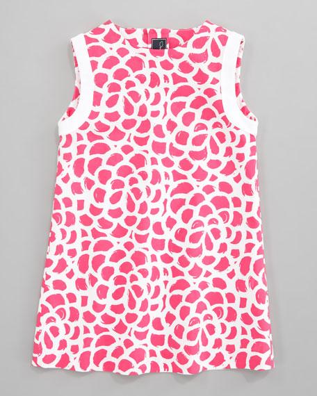 Camelia A-line Dress, Hot Pink