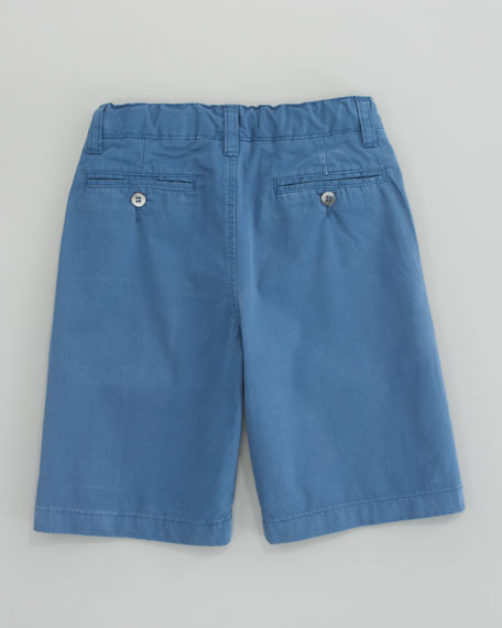 Lightweight Twill Shorts, Blue