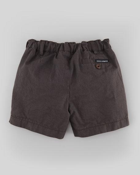 Lightweight Twill Shorts, Dark Gray