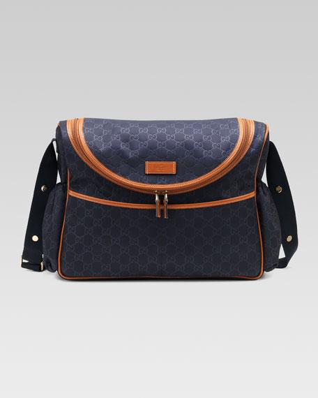 GG Messenger Diaper Bag, Navy/Luggage