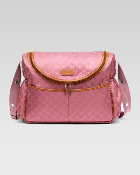 GG Messenger Diaper Bag, Vintage Rose/Orange