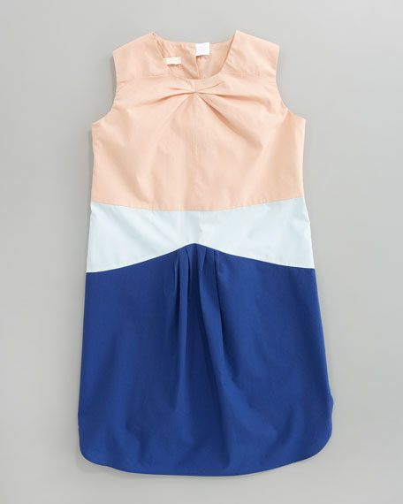 Tri-Tone Shift Dress, Sizes 2-6
