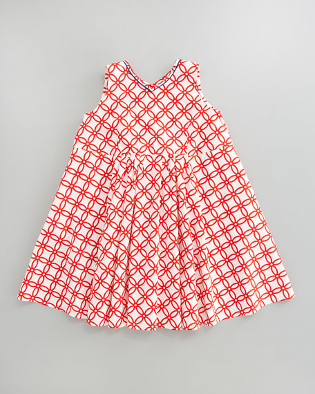 Printed A-Line Dress, Sizes 8-10