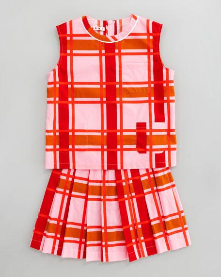 Plaid Pleated Skirt, Sizes 2-6
